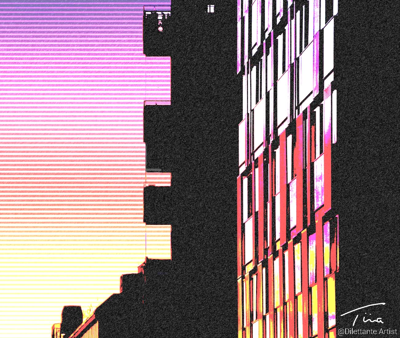sunset pop art